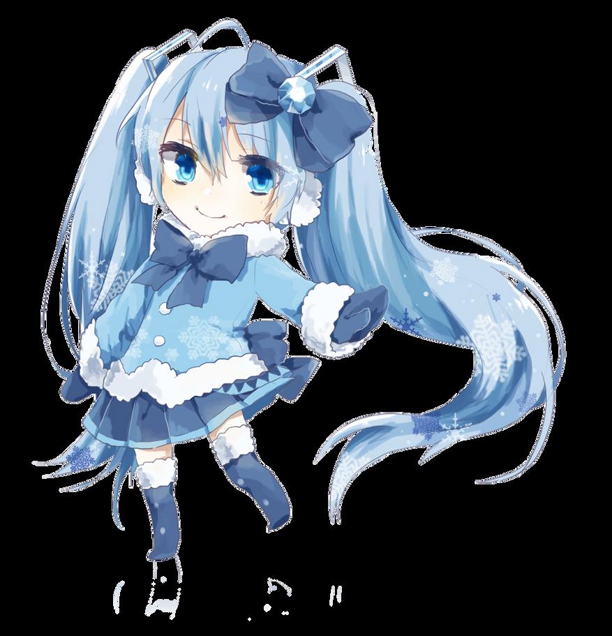 Vocaloid - Chibi Snow Miku render (png) by orihimeyuuka
