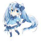 Vocaloid - Chibi Snow Miku render (png)