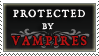 Protected by Vampires stamp