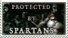 Protected by Spartans stamp