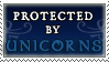 Protected by Unicorns stamp