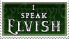I speak Elvish stamp