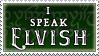 I speak Elvish stamp by purgatori