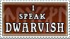 I speak Dwarvish stamp