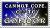 Off to Gondor stamp by purgatori