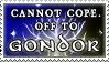 Off to Gondor stamp by purgatori