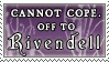Off to Rivendell stamp