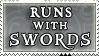 Runs with Swords stamp by purgatori