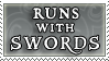 Runs with Swords stamp by purgatori