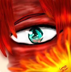 Todoroki's Left Eye: Boku no Hero Academia by KourtDrawz