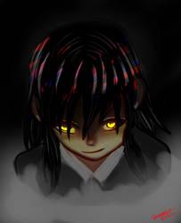 Creepy girl by KourtDrawz