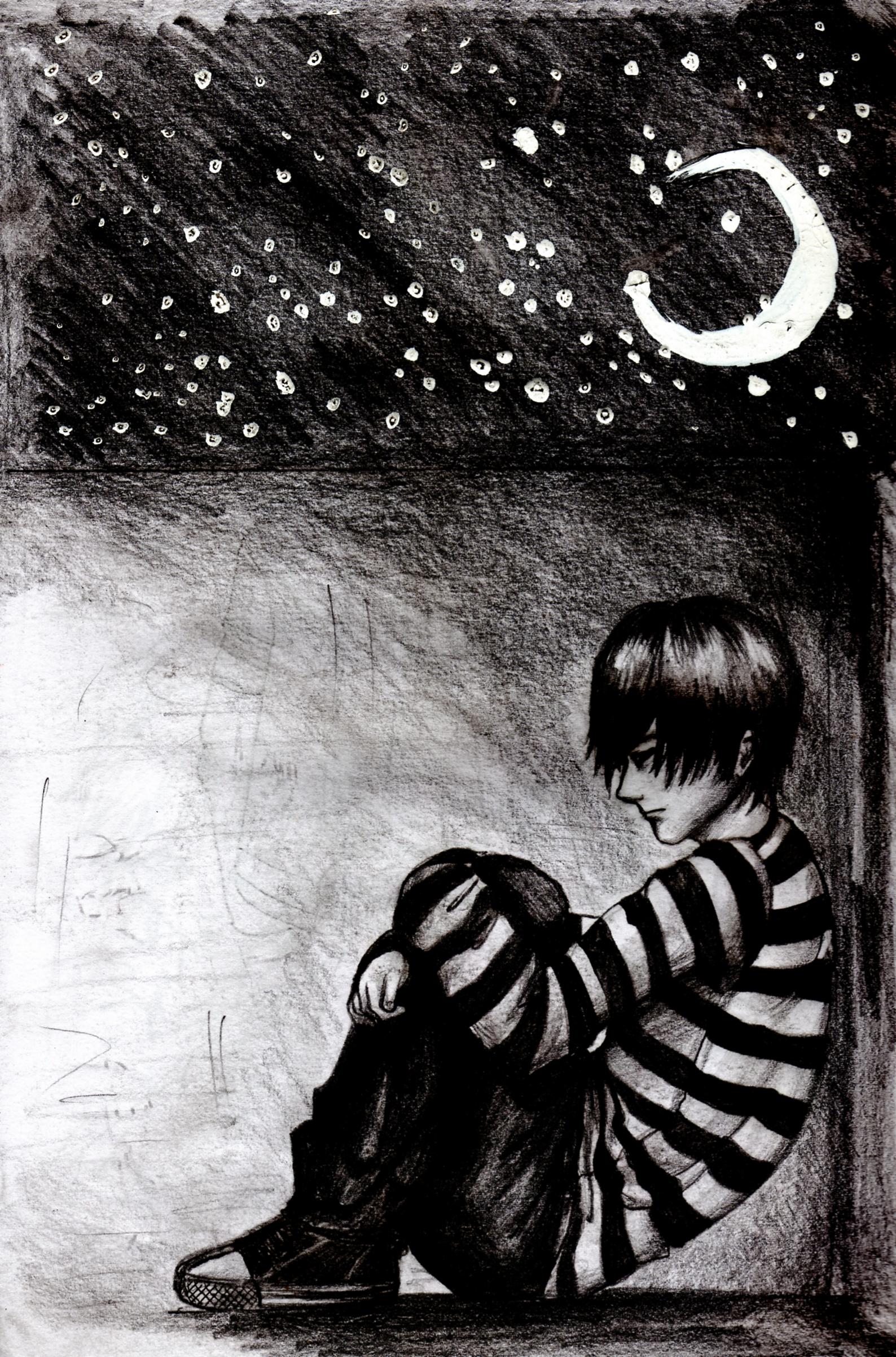 sad boy by kett-L on DeviantArt