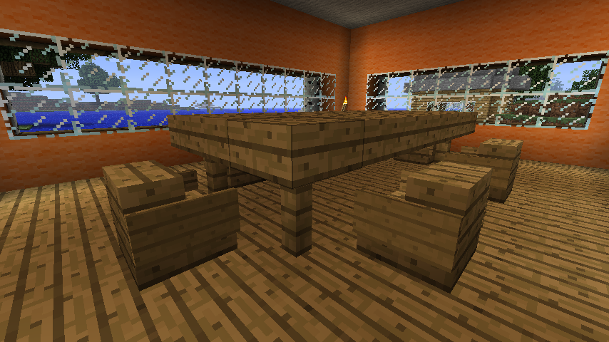 Minecraft Mansion Dining Room By Coachlovesfootball