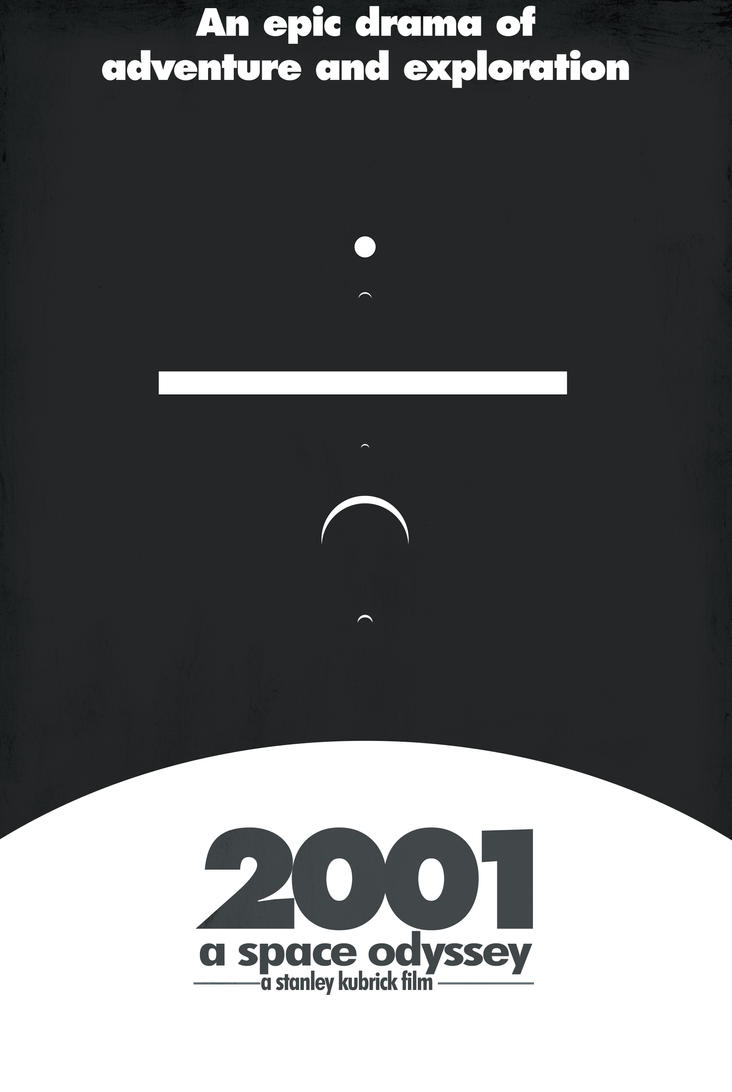 2001: A Space Odyssey Minimalist Movie Poster by 69ingChipmunkzz
