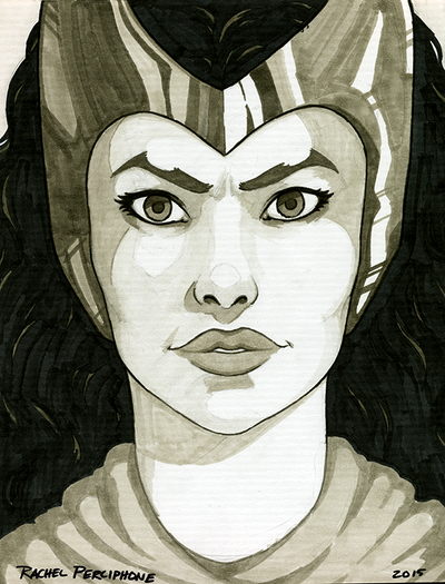 Scarlet Witch - Head Sketch by Rachel-Perciphone