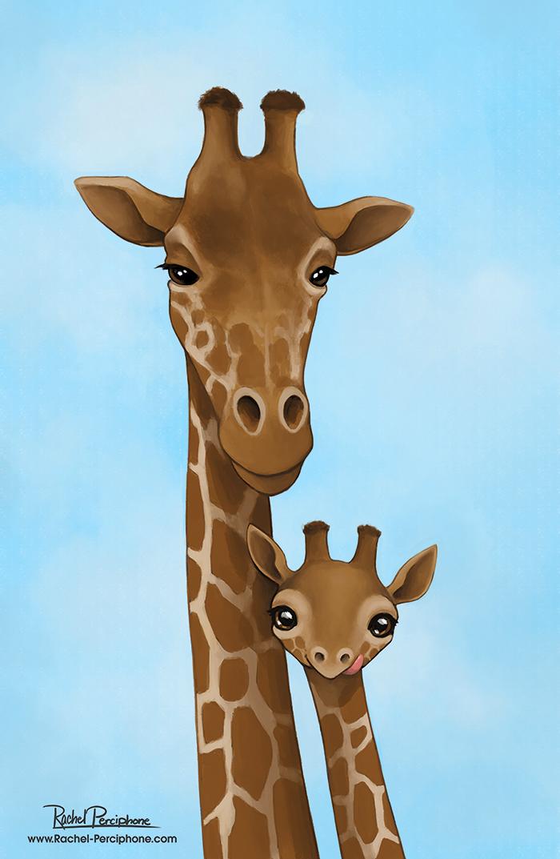 Giraffes by Rachel-Perciphone