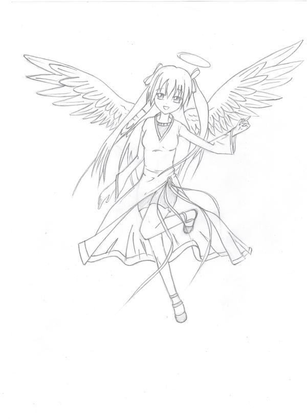 Angel Anime Girl By Animeped