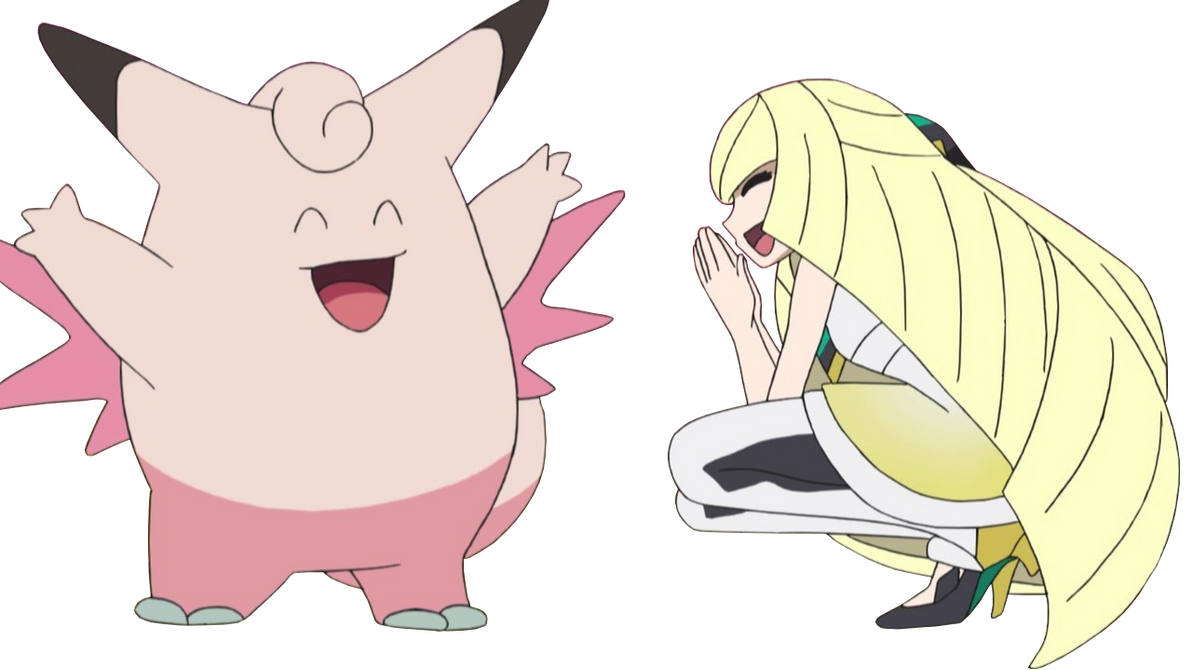 clefable and lusamine render by ashleytheskitty on deviantart