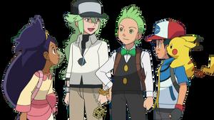 Iris, N, Cilan, and Ash Render