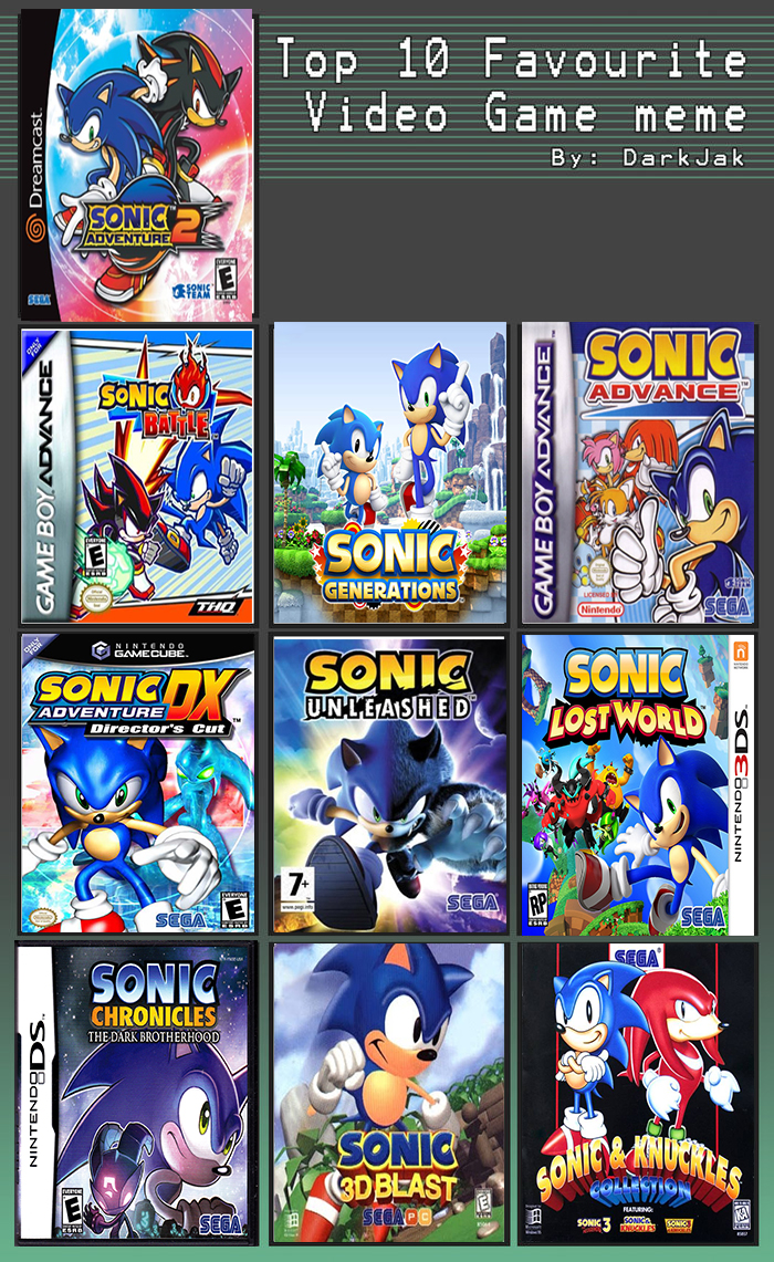 my top 10 sonic games by soul blade22 on deviantart