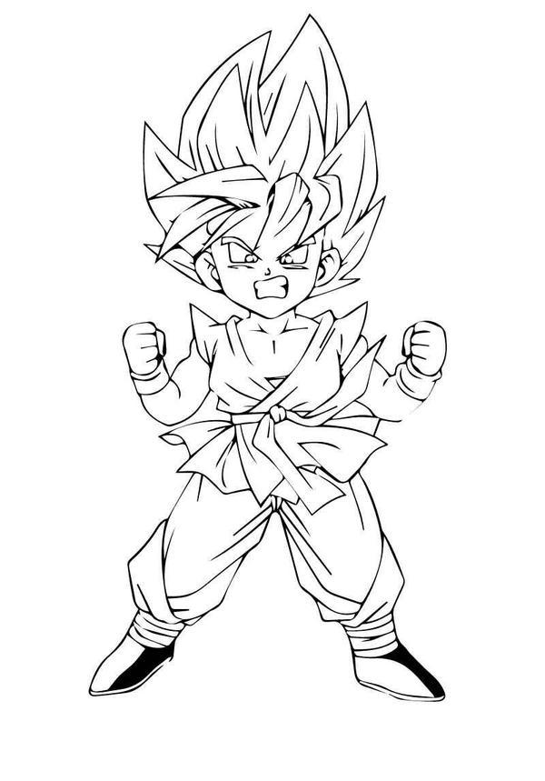 goku kid super saiyan by narutoandbz on DeviantArt