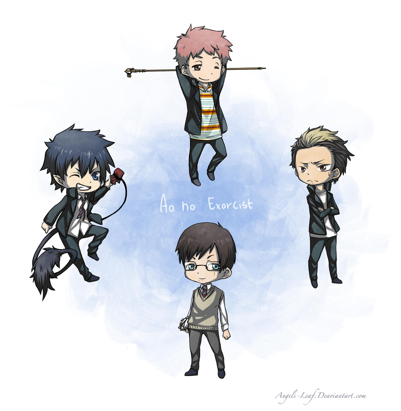 Ao no Exorcist: Chibi Time by Angels-Leaf