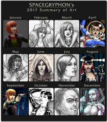 Summary of Art 2017 by Spacegryphon