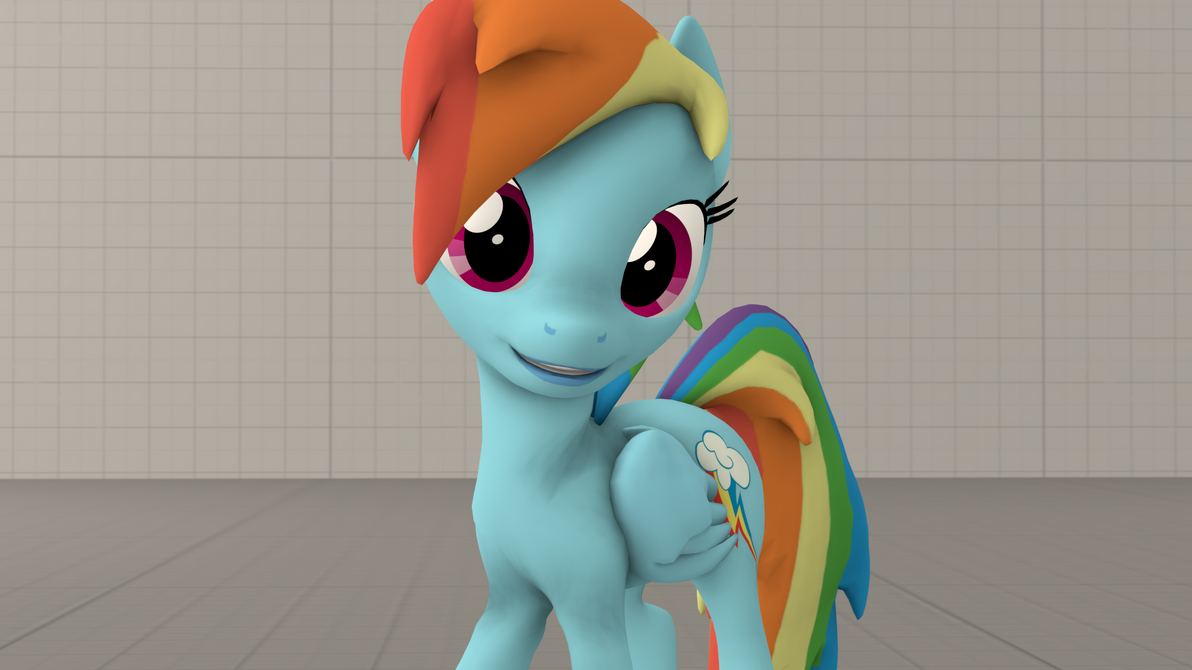 Rainbow Dash Posing And Smiling By OI-Mays-McMuffin
