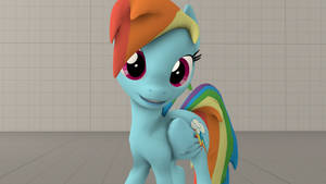 SFM - Rainbow Dash posing and smiling by OI-Mays-McMuffin-IO