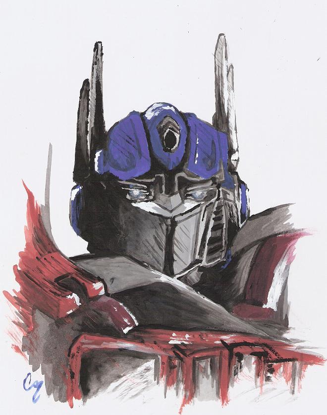 TS Optimus Prime by Deceptigirl