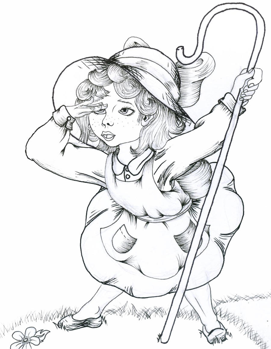Little bo peep by yamina20 on deviantart for Little bo peep coloring pages