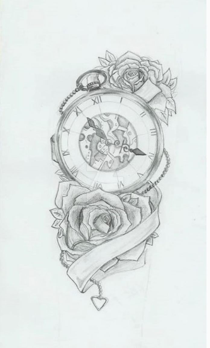 Clock Tattoo Designs Arm