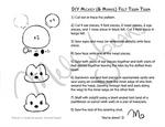 Mickey Mouse Felt Tsum Tsum Pattern