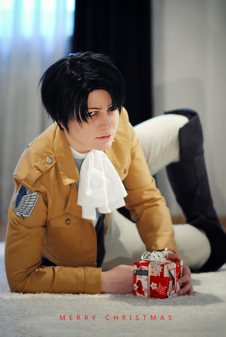 Shingeki no Kyojin - Merry Christmas from Levi by kayleighloire