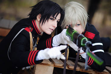 Guren and Shinya by kayleighloire