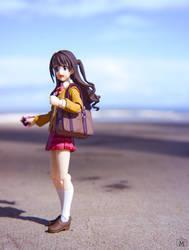 Shimamu goes to the beach! by mikivii