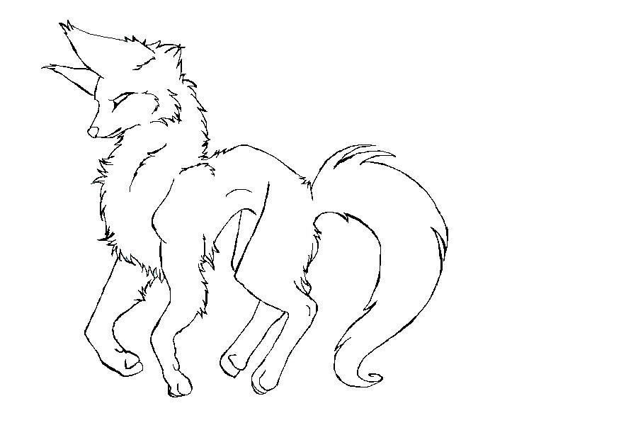 Wolf Outline by coffaefox on DeviantArt