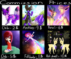 Commission prices 2012 by coffaefox