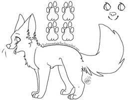 Fox Lineart by coffaefox