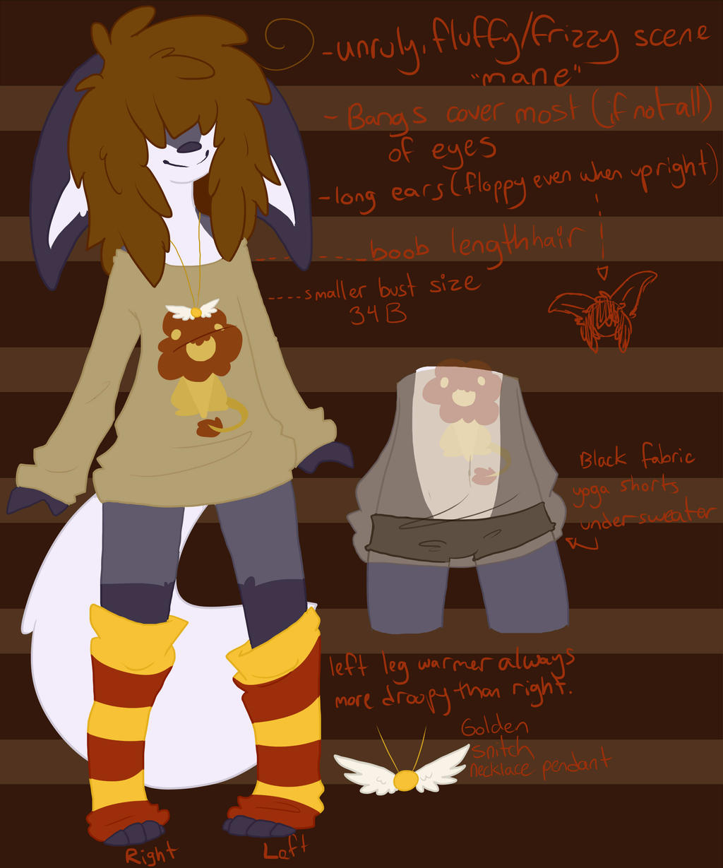 Anthro Chiima outfit reference by coffaefox