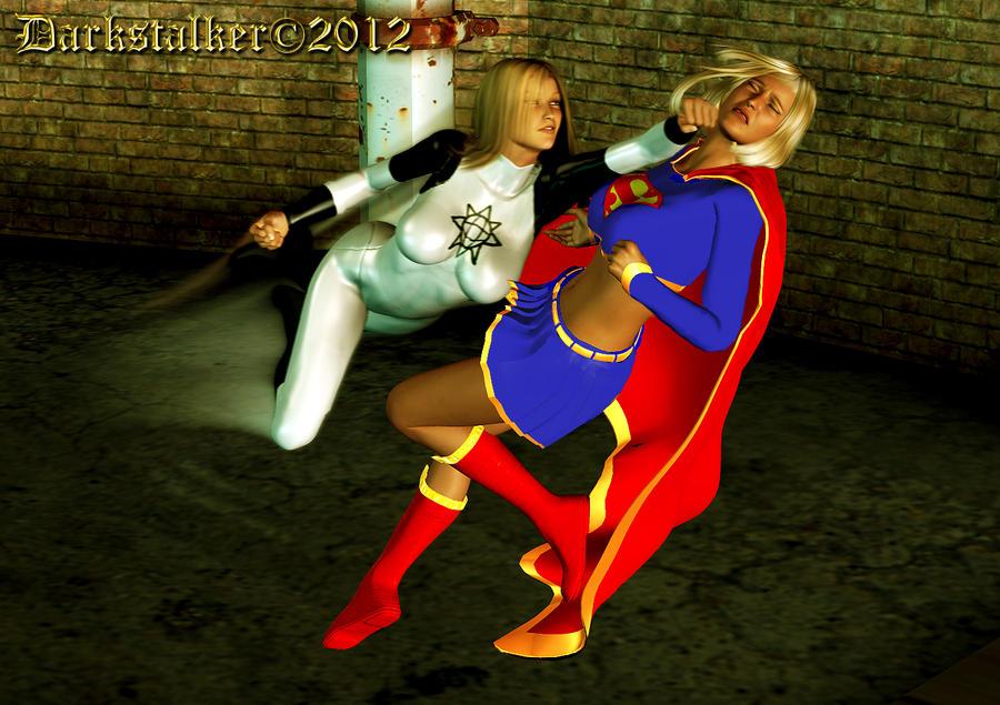Ultrawoman Vs Supergirl by U1trawoman