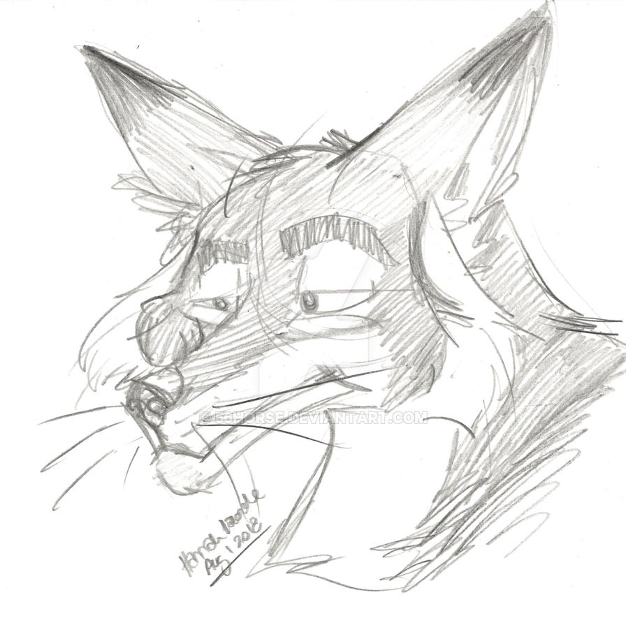 doodle fox.... by 56horse
