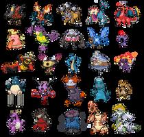 Pokemon fusion collection by Elitegengar