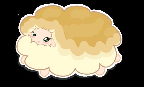 Mayple Syrup::.. Chibi Sheep Sticker by Jellie-Mochi