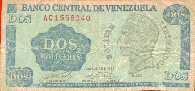 Billete de Dos Bolivares by wevenezuela