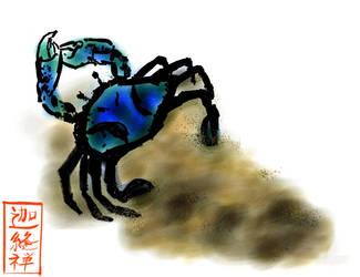 Sumi-e Crab by Victor-Surge