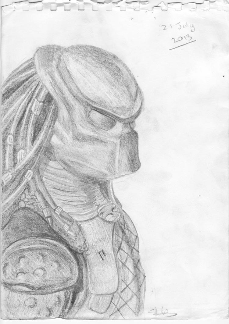 predator pencil drawing by ShanShan666