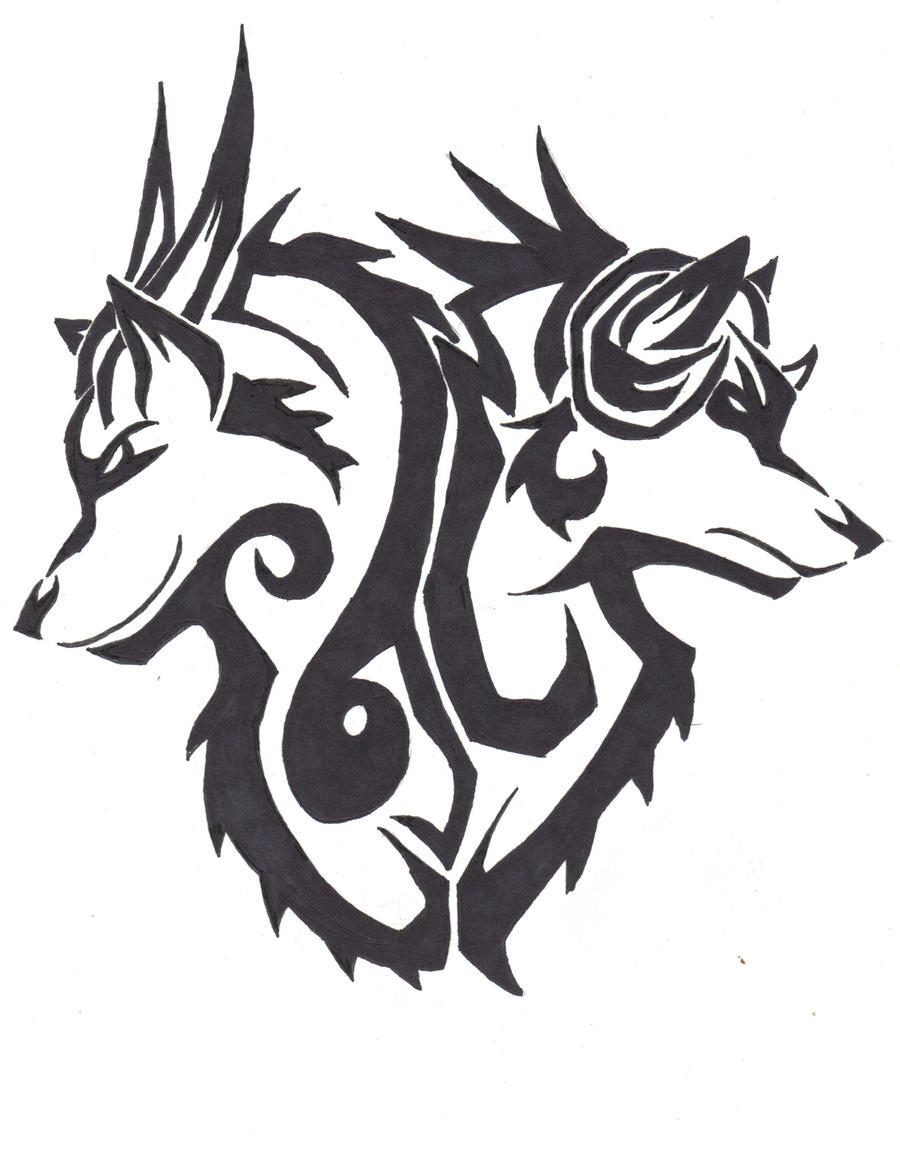Rage and Despair Tribal Tattoo Design by wolfhappy on ...