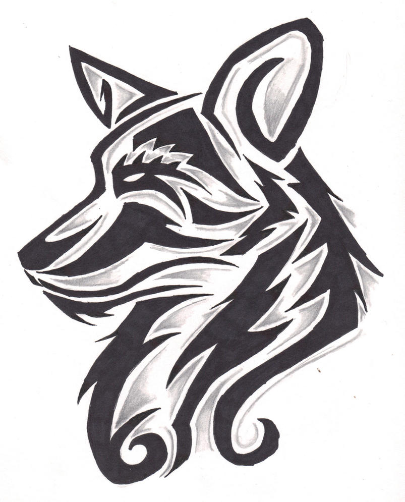 Canine Tribal Design By Wolfhappy On DeviantArt
