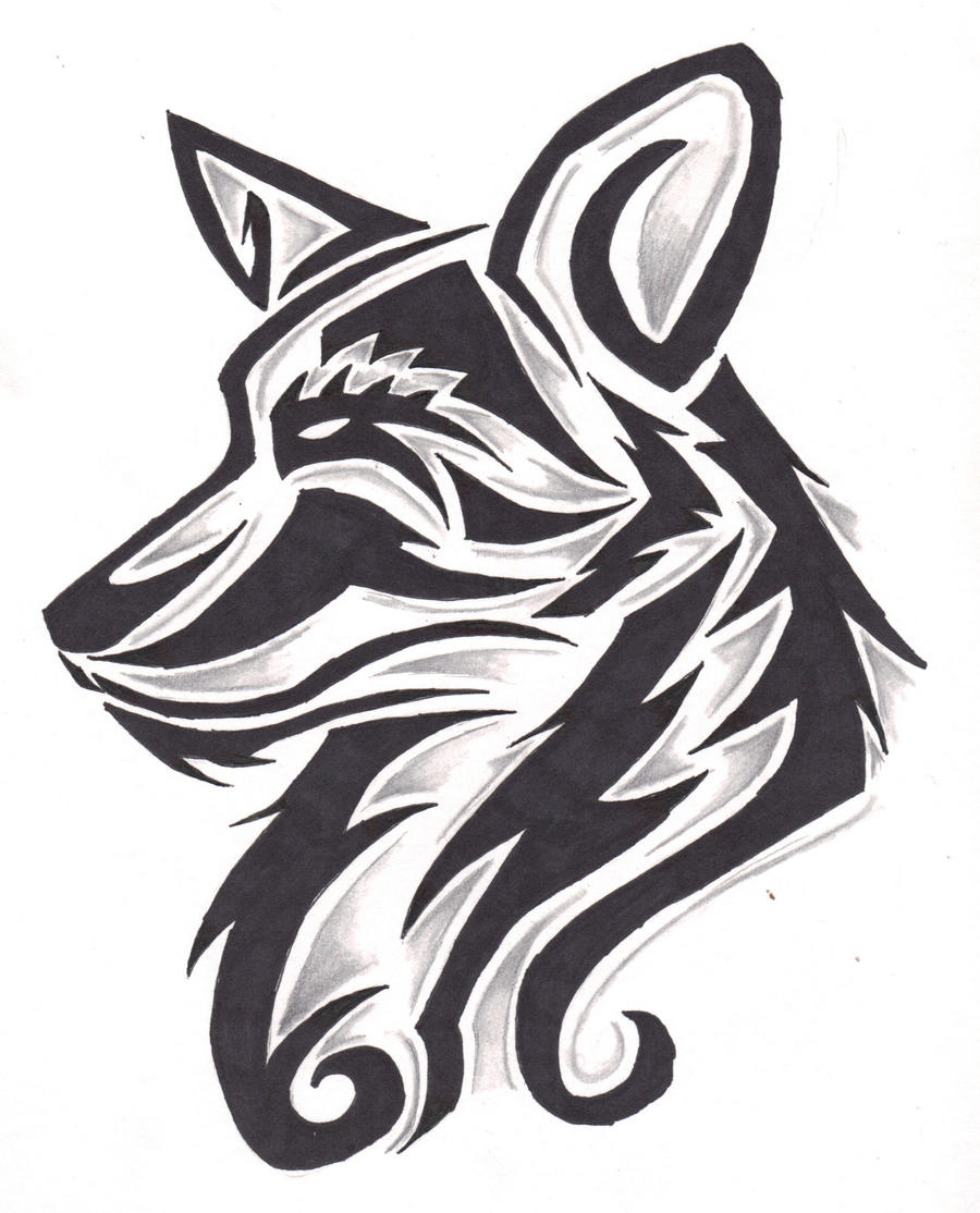 Wallpapers Tribal Animals Animal Tattoo 1024x1024: Canine Tribal Design By Wolfhappy On DeviantArt